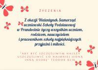 Czytaj więcej: Walentynkowe życzenia od Samorządu Uczniowskiego.